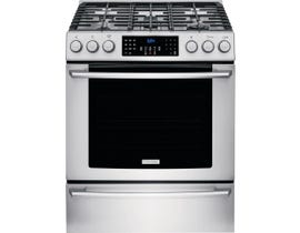"Electrolux 30"" 4.5 cu. ft. Front Control Freestanding Gas Range in Stainless Steel EI30GF45QS"