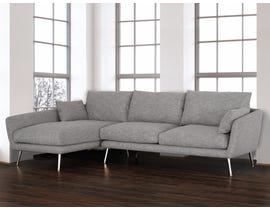 Primo International Elmwood Collection 2-Piece Tweed Sectional in Stone 3659