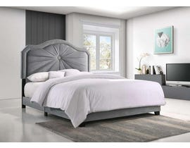 Embla Series Upholstered Bed in Grey 8074-Full/Double