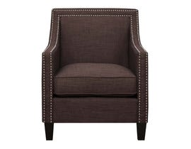 High Society Erica Series Accent Chair in Chocolate 578