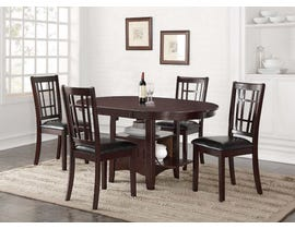 Hommax Furniture Stacy Series Dining Set in Warm Espresso HM4260