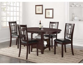 Stacy Series Dining Set in Warm Espresso HM4260