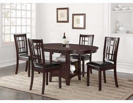 Hommax Furniture Stacy Series Dining Set in Warm Espresso HM4260
