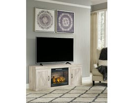 Ashley Bellaby 63 inch TV Stand with Fireplace in Whitewash EW0331-168