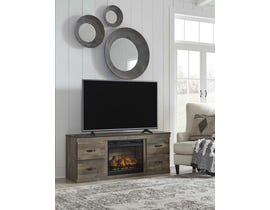 Ashley Trinell Series LG TV Stand w/Fireplace in Brown EW0446-168