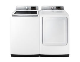 Samsung Laundry Pair 5.2 cu. ft. Washer WA45N7150AW & 7.4 cu. ft. Electric Dryer DVE45T7000W