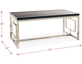 High Society Ezra Collection Metal Coffee Table in Merlot CEZ100