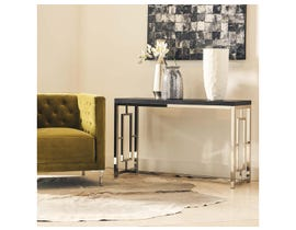 High Society Ezra Collection Metal Sofa Table in Merlot CEZ100