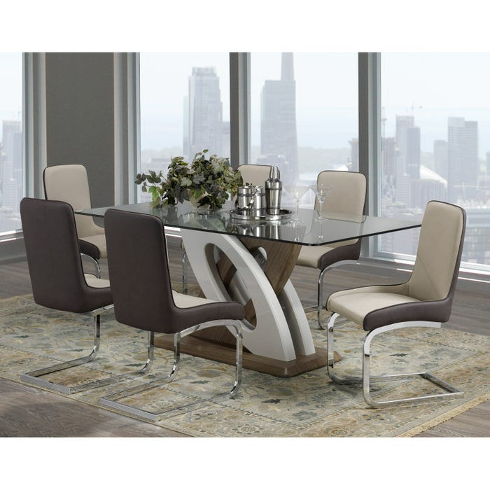 Brassex Donatello Dining Table Light Brown F-910 (table)