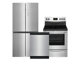 Frigidaire 3pc Appliance Package in Stainless Steel FFBN1721TV FCRE305CAS FFCD2413US