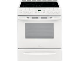 "Frigidaire 30"" 5.0 cu. ft. Freestanding Smooth Top Electric Range in White CFEH3054UW"