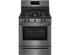 Frigidaire 30 inch 5.0 cu.ft. Gas Range FFGF3054TD black stainless