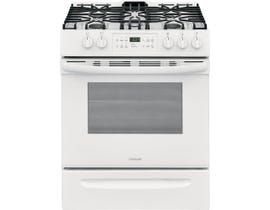 "Frigidaire 30"" 5.0 cu. ft. Front Control Freestanding Gas Range in White FFGH3054UW"