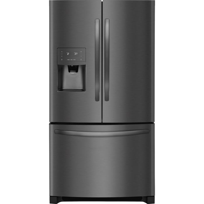 Frigidaire 36 inch 26.8 Cu. Ft. Standard-Depth French Door Refrigerator FFHB2750TD black stainless steel