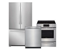 Frigidaire 3pc Appliance Package in Stainless Steel FFHN2750TS FFID2459VS CFEH3054US