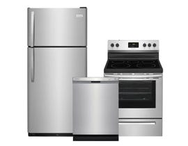 Frigidaire 3pc Appliance Package in Stainless Steel FFTR1821TS FFCD2418US FCRE305CAS