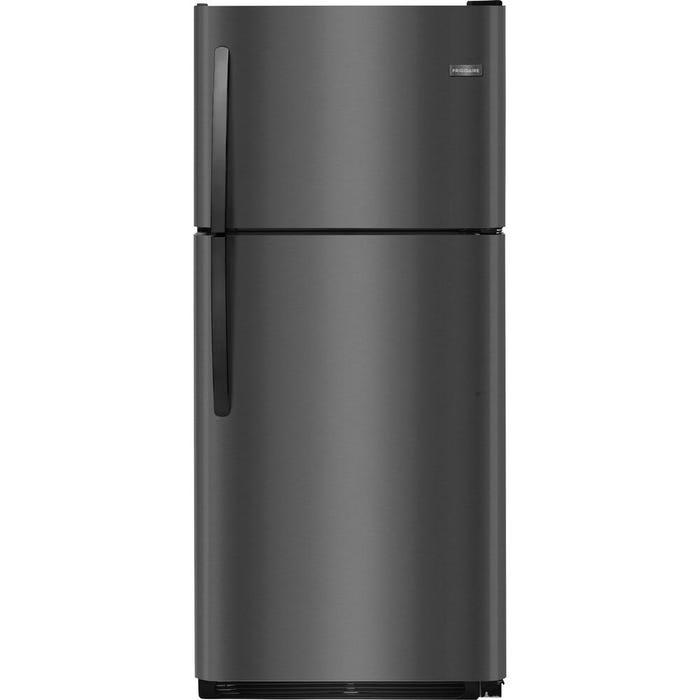 Frigidaire 30 inch 20.4 cu. ft. Top-Freezer Refrigerator in Black Stainless Steel FFTR2021TD