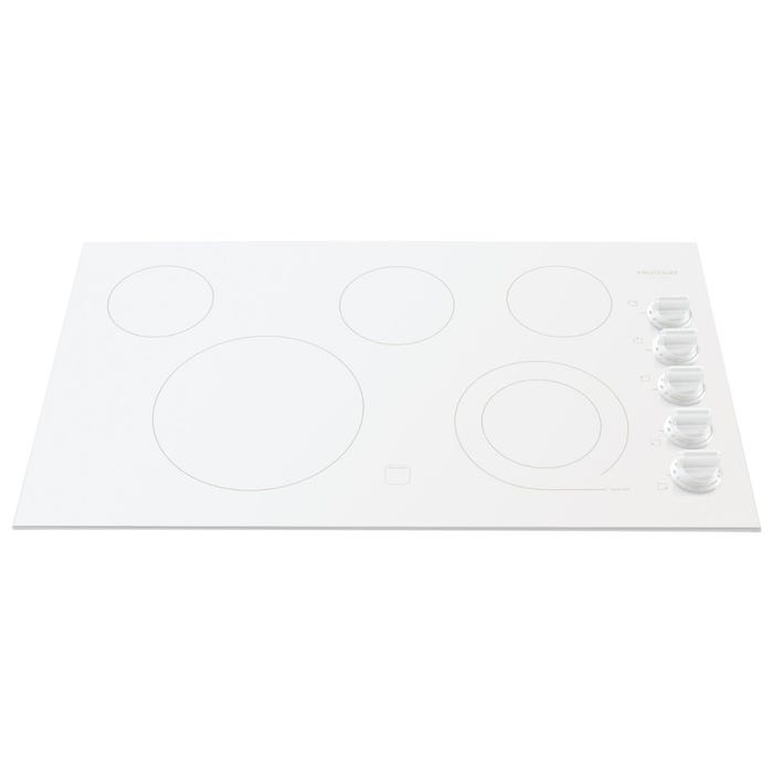 Frigidaire Gallery 36 inch Electric Cooktop in white FGEC3645KW