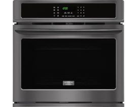 Frigidaire Gallery 30 inch 4.6 cu.ft. Single Electric Wall Oven in black stainless steel FGEW3065PD