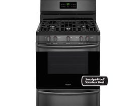 Frigidaire Gallery 30 inch 5 cu.ft. Freestanding Gas Range in Black Stainless Steel FGGF3036TD