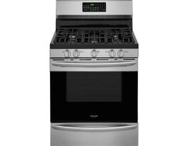 Frigidaire Gallery 30 inch 5.0 cu.ft. true convection gas range in Stainless steel FGGF3059TF