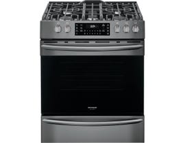 Frigidaire 30'' 5.6 cu.ft. Front Control Gas Range in Black Stainless Steel FGGH3047VD