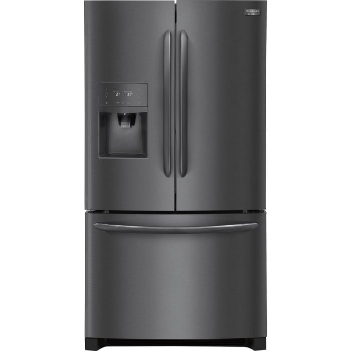 Frigidaire Gallery 36 inch 27.2 cu. ft. French Door Refrigerator in Black Stainless Steel FGHB2868TD