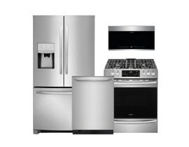 Frigidaire Gallery 3pc Appliance Package in Stainless Steel FGHB2868TF FGGH3047VF FGID2476SF