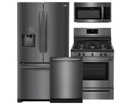 Frigidaire 3pc Appliance Package in Black Stainless Steel 111815 112204 112202