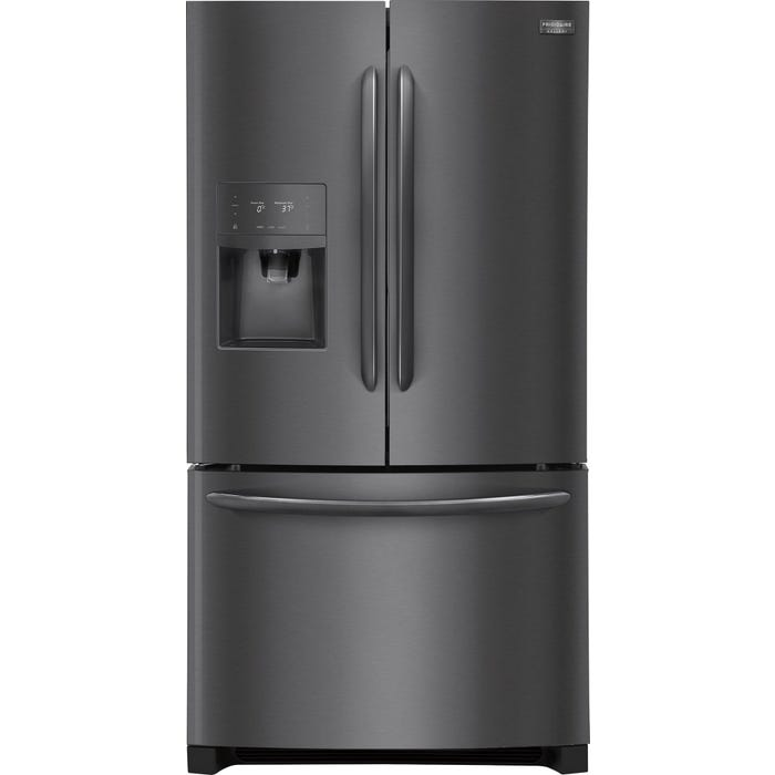 Frigidaire Gallery 36 inch 21.9 cu. ft. French Door Refrigerator in Black Stainless Steel FGHD2368TD