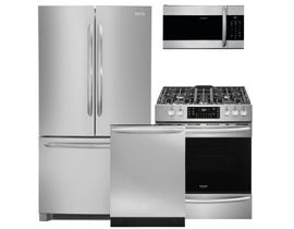 Frigidaire Gallery 3pc Appliance Package in Stainless Steel FGHG2368TF FGGH3047VF FGID2466QF