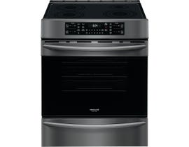 "Frigidaire Gallery 30"" Front Control Electric Range in Black Stainless CGIH3047VD"