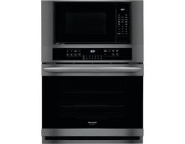 Frigidaire Gallery 30 Inch Electric Wall Oven/Microwave Combination Black Stainless Steel FGMC3066UD