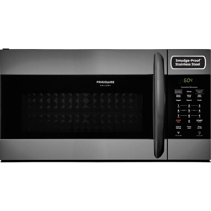 Frigidaire Gallery 30 inch 1.5 Cu. Ft. Over-The-Range Microwave with Convection Black Stainless FGMV155CTD