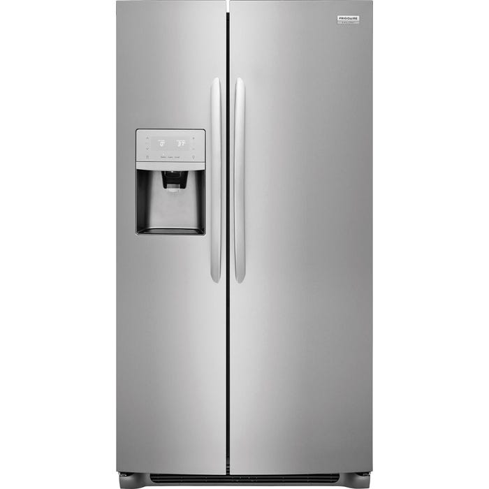 Frigidaire Gallery 33 inch 22.2 Cu. Ft. Side-by-Side Refrigerator in Stainless Steel FGSS2335TF