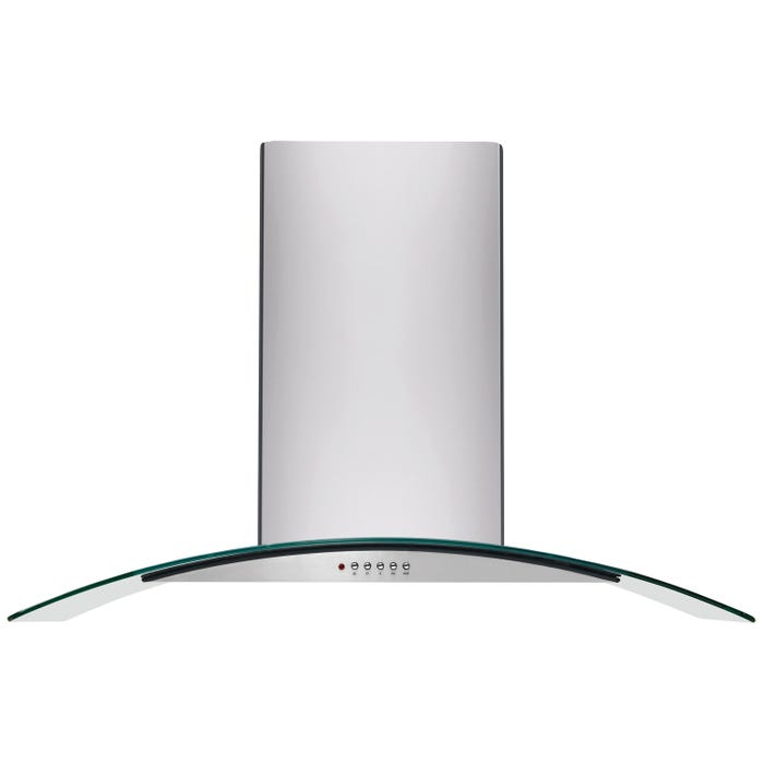 Frigidaire 42 inch Glass Canopy Island Hood in stainless steel FHPC4260LS