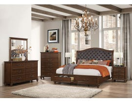 Cosmos Rocco Collection Nightstand in Dark Cherry