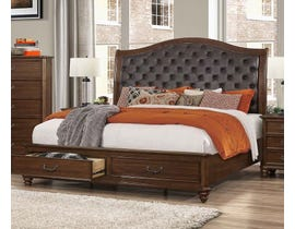 Cosmos Rocco Collection King Bed in Dark Cherry