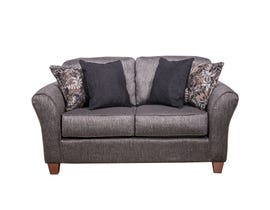 Flair Pompy Collection Fabric Loveseat in Grey 1140-PG
