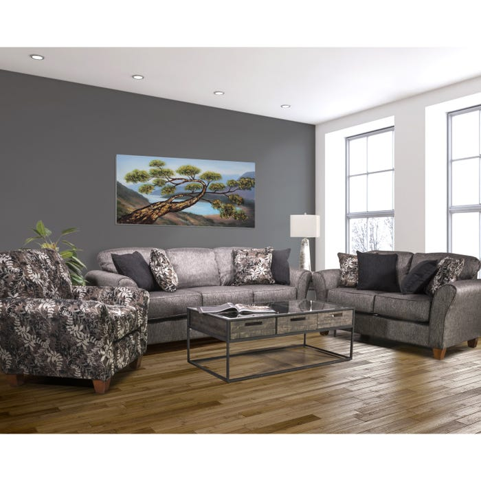 Sofa Set Flair Fabric Grey 1140 Pg Lastman S Bad Boy