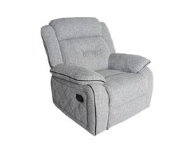 Flair Malden Series Recliner in Inferno Storm Grey