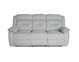 Flair Malden Series Reclining Fabric Sofa in Inferno Storm Grey