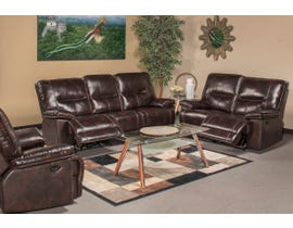 Bradstreet Collection Leather 3Pc Power Reclining Sofa Set in Grape