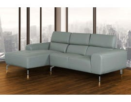 Doreen Series 2Pc Leather LHF Sectional in Grey N4619