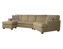 Decor-Rest RHF sectional with LHF chaise in Giorgio Wood/Ryan Wood 2805