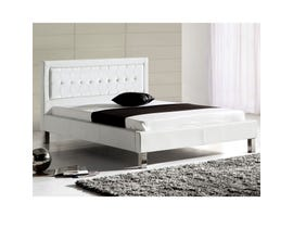 Sinca Florence Platform Bed in White M1679