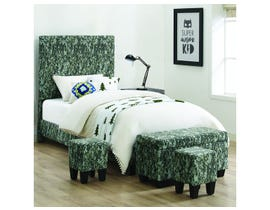 High Society Twin Bed in Digi Camo Green