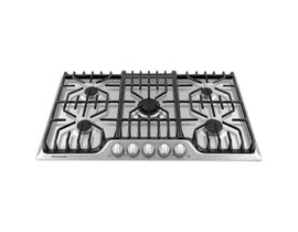 Frigidaire Professional 36 inch Gas Cooktop with Griddle in stainless steel FPGC3677RS