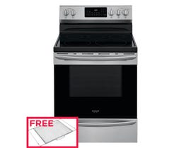 """Frigidaire 30"""" 5.7 cu.ft. Rear Control Electric Range with Air Fry in Stainless Steel GCRE306CAF"""