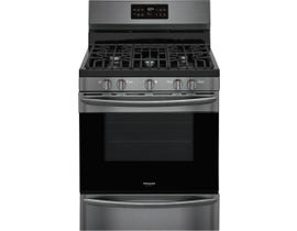 Frigidaire Gallery 30'' 5.0 cu. ft. Freestanding Gas Range with Steam Clean in Black Stainless GCRG3038AD